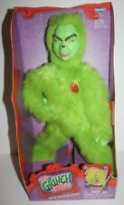 "2000 Heart Warming Grinch How the Grinch Stole Christmas 15"" Plush Jim Carrey"