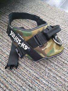 Julius K9 Power Harness Size 3 (XL) glow in dark green camo fits German shepherd