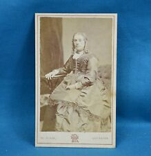 Victorian CDV Photo Carte De Visite Seated Young Lady By Rowe Leicester