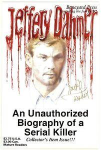 Jeffery Dahmer (1992) #0 2nd Print Boneyard Signed By Hart Fisher No COA VF/NM