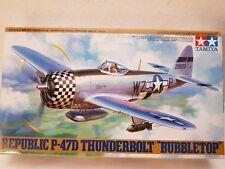 "Tamiya 61090 Republic P-47D Thunderbolt ""Bubbletop"" 1:48 Neu und eingetütet"