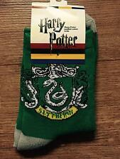 Harry Potter Hogwarts Slytherin House Socks Unisex Kids Childrens Green Malfoy