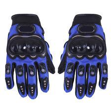1 paio Moto guanti da corsa guanti PU blu fibra - XL P8B1 X1Y3