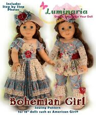 """American Girl Doll Dress Clothes Pattern 18"""" Doll Blaire Grace PDF Outfit Hat"""
