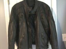 Men's Leather Jacket Biker lined black quality product size 46