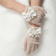 White Lace Fishnet Gloves Wedding Gloves Party First Communion Flower Kids