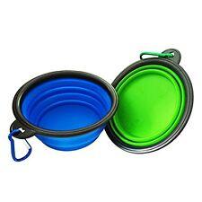 2 Ciotola per cani pieghevole, di grado alimentare in silicone BPA FREE approvato dalla FDA, pieghevole -