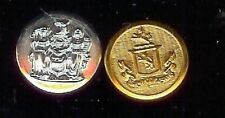 2 old COAT of ARMS silver/goldplated Button