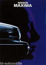 Prospekt NL Nissan Maxima 1992 Autoprospekt Broschüre brochure Auto PKWs