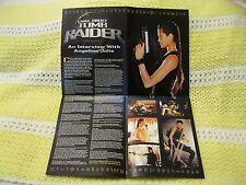 Electronic Gaming Magazine EGM Tomb Raider Interview Angelina Jolie Poster