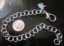 "Big Girl silver plated 9"" large link 8mm charm bracelet chain no charms pch055"
