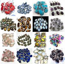 10pcs Pendant Lot Labradorite Other Gemstones 925 Sterling Silver Overlay MWL-8