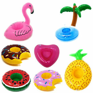 Inflatable Cup Holder Drinks Floating Beach Pool Party Can Swimming Hot Tub Toy