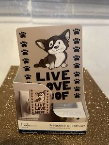 "NEW Mainstays Fragrance Oil Diffuser Plug in ""Live Love Woof"" Dog. Free shipping"