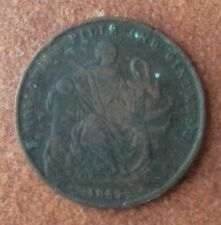 1857 HOLLOWAY PILLS AND OINTMENTS TRADE  TOKEN