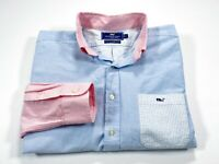 Vineyard Vines Slim Fit Tucker Shirt L Men's Long Sleeve Multi-Color Whale