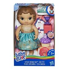 BRAND NEW HASBRO BABY ALIVE CUPCAKE BIRTHDAY BABY BROWN HAIR E0597