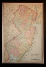 Antique 1893 Map of New Jersey