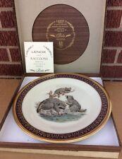 Lenox Boehm Woodland Wildlife Series Raccoons Plate 1973 Mib