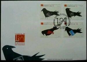 [SJ] Portugal European Capital Culture - Lisbon 1994 Pigeon Birds (FDC) *clean