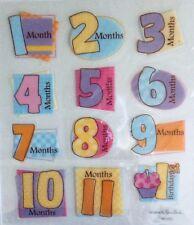 Baby First Months Year Boy Girl Scrapbook Stickers