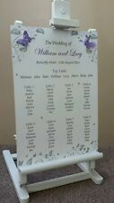 Butterfly Wedding Table Plan Seating Plan Sign Chart Silver/Gold All Colours A3