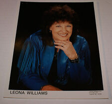 """LEONA WILLIAMS  8"""" X 10"""" OFFICIAL PROMOTIONAL PICTURE OOP HTF NEW COUNTRY"""