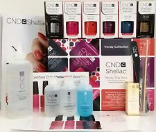 SALE! CND SHELLAC TRENDY TRIAL PACK 15-pc UV/LED Gel Polish Intro Gift Set *NIB