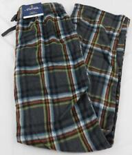 Stafford Regular Fit Sleep Pant New Small Sm Soft Grey Blue Plaid Fleece Like