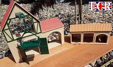 2 NEW G SCALE WAREHOUSE, WINCH & STORAGE BARNS BUILDING RAILWAY TRAIN 1:32 SCALE