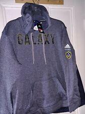Los Angeles Galaxy La soccer Hooded Sweatshirt Mls Hood Shirt Adidas New - M