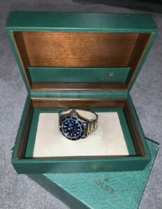 Rolex Submariner Blue 16613 18k Gold & Stainless Steel 1991 - Watch And Box Only