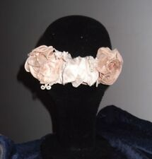 DUPION ROSES HAIRCOMB, SALMON PINK IVORY COLORS, BRIDAL ACCESSORIES, AUSTRALIAN