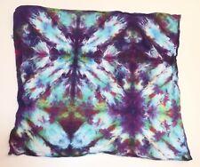 "Tie Dye Bandana 21"" x 21"" Purple Galaxy Bleed 100% cotton"