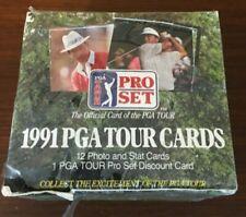 1991 PRO SET PGA TOUR COMPLETE CARD FACTORY SET SEALED 36 packs
