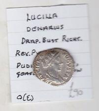 More details for roman empire lucilla silver denarius in good very fine condition.