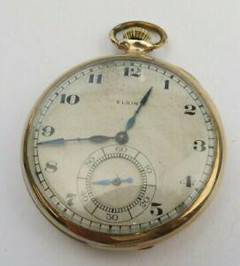 1921 Elgin Pocket watch 1921 17 jewel model 5 grade 384 class 114 FG case
