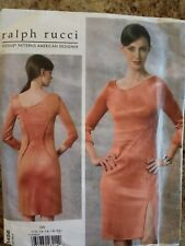 Vogue Sewing Pattern V1458-Misses' DRESS-Size: 12-20-Uncut-Advanced-Ralph Rucci