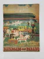Vintage 1939-1940 Railroads On Parade New York World's Fair Book & Program