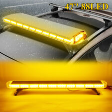"47"" 88 Led Yellow Light Bar Car Waterproof Beacon Warn Tow Truck Response Strobe"