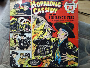 WILLIAM BOYD - Hopalong Cassidy And The Big Ranch Fire 78 rpm disc (A+)