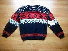 Vintage Diane Von Furstenburg Arcylic Sweater Black Red NOS Tags