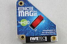 NEU! IWE Tec Big Magnet Haltekraft 40 kg Schweißmagnet Schweißerwinkel 540 002