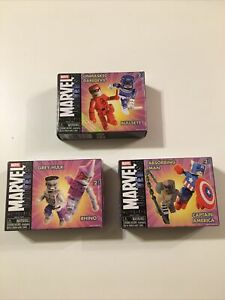 Lot Of 6 Marvel MiniMates (Captain America, Hulk, & RARE Daredevil Variant) MIB