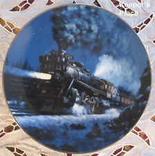 RE Pierce THE EMPIRE BUILDER Train Plate 1st Issue In The Romantic Age Of Steam