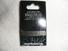 Disney Star Wars Rogue One 'A Star Wars Story' Force For Change Pin, New