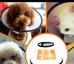 SM Pet Protective Collar Dog Neck Cone Recovery Cone Collar for Anti-Bite Lick-