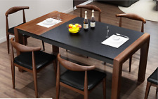 Black Firestone with Wood Foldable & Extendable Dining Table Or Matching Chairs
