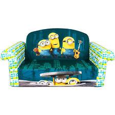 Marshmallow Furniture Children's 2 in 1 Flip Open Foam Kids Sofa, Despicable Me