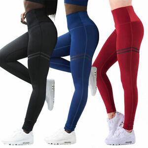 Womens Fitness Yoga Leggings Running Gym Sport High Waist Jogging Workout Pants